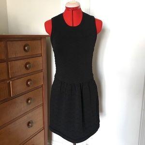 Nice! LBD Knit Dress Sleeveless Dress Black